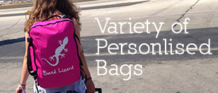 Variety of personalised bags